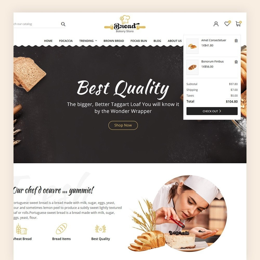 theme - Продовольствие и рестораны - Bread bakery Store - 4
