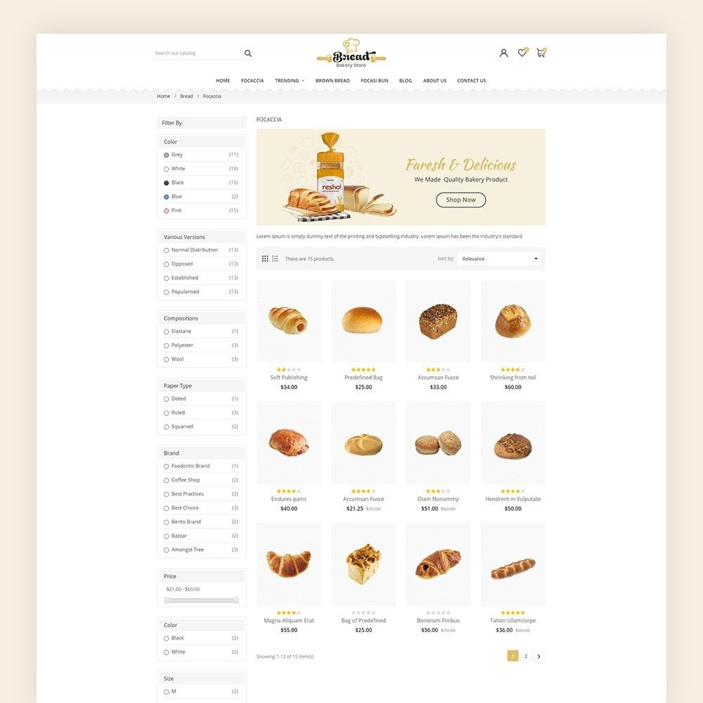 theme - Alimentation & Restauration - Bread bakery Store - 6