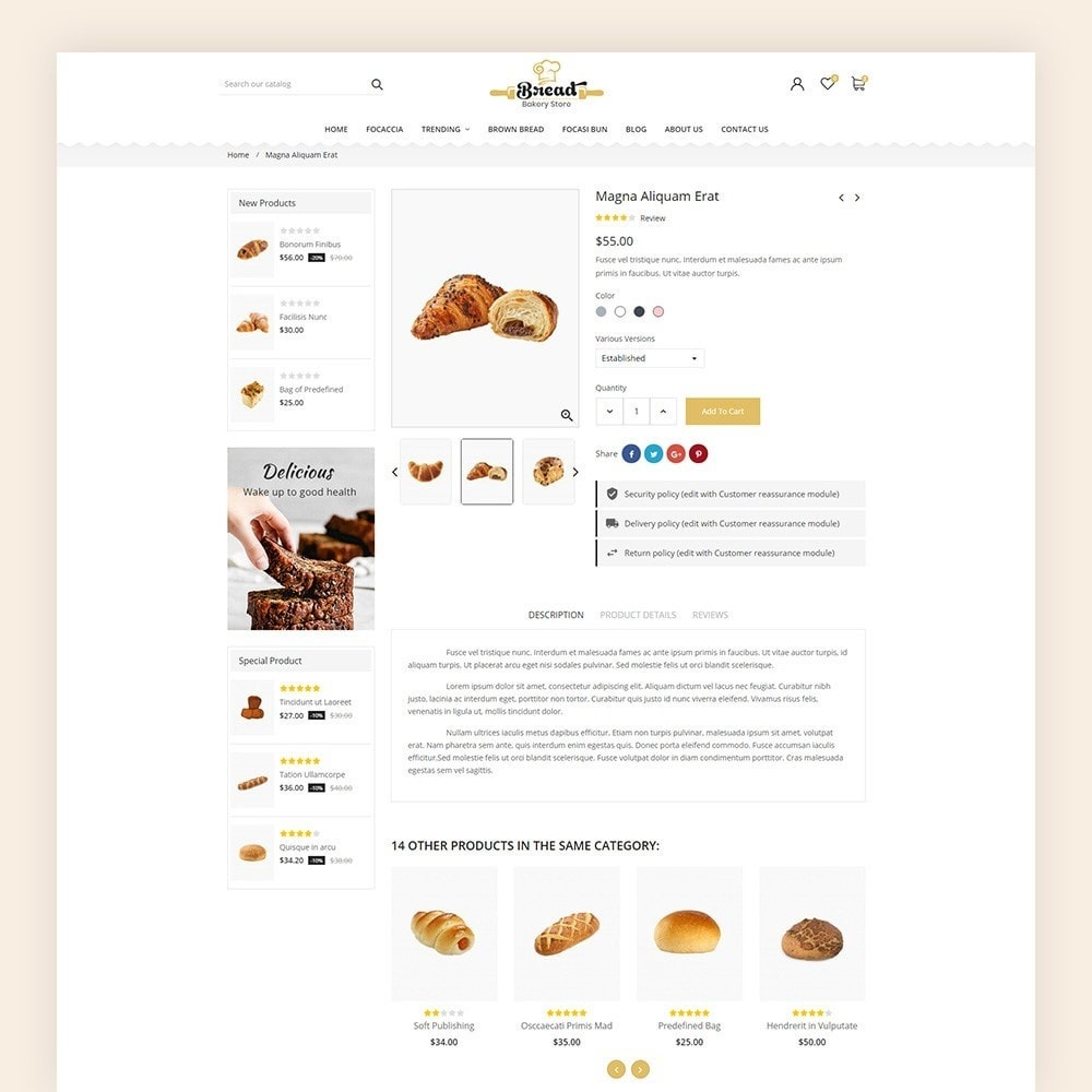 theme - Alimentation & Restauration - Bread bakery Store - 8
