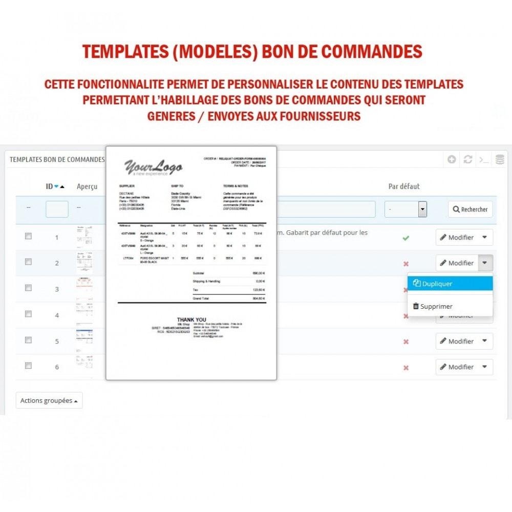 module - Gestion des Commandes - Wk Gestion Commandes Fournisseurs - 9