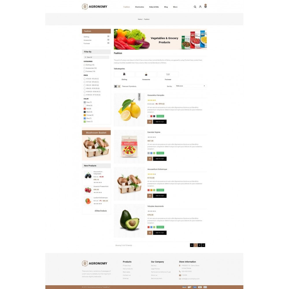 theme - Alimentation & Restauration - Agronomy - Organic Store - 4