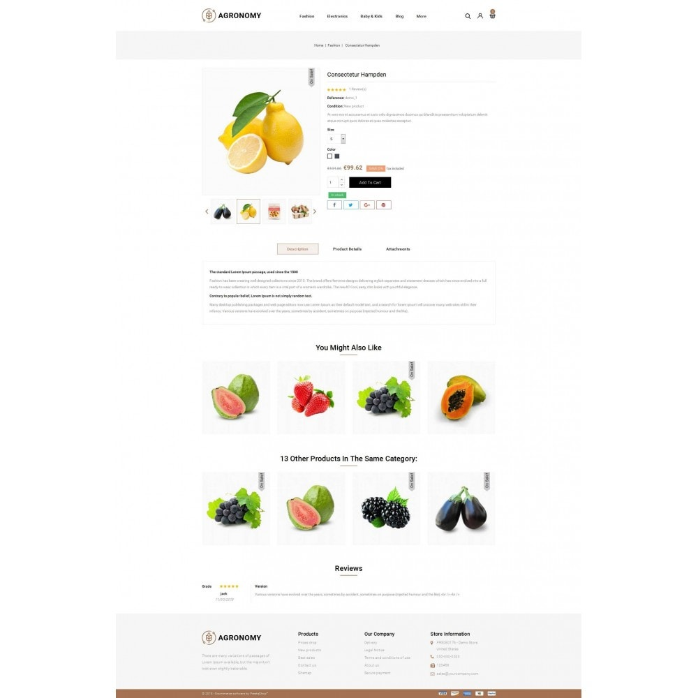 theme - Alimentation & Restauration - Agronomy - Organic Store - 5