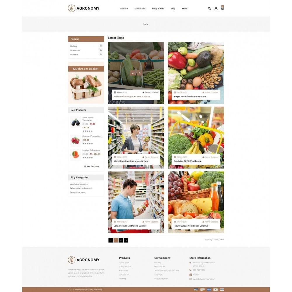 theme - Food & Restaurant - Agronomy - Organic Store - 9