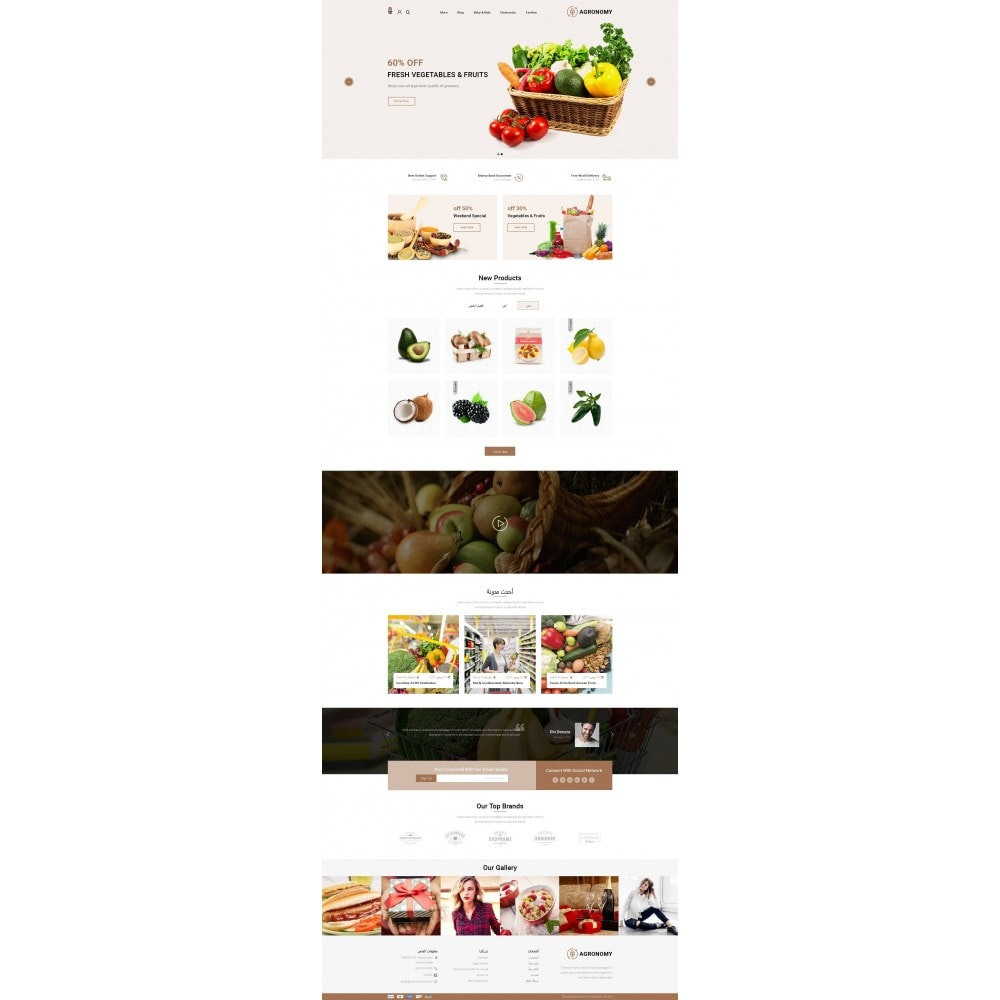 theme - Alimentation & Restauration - Agronomy - Organic Store - 10