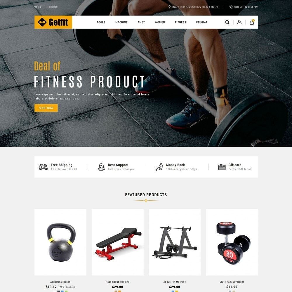 theme - Health & Beauty - Fitness- Gym  Equipment Store - 2