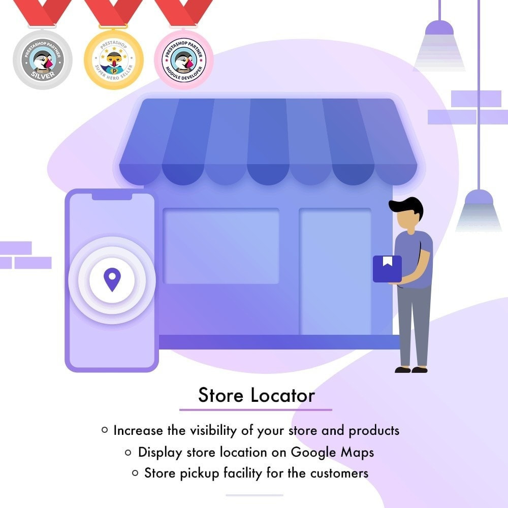 module - Internationaal & Lokalisatie - Store Locator - Store Pickup, Google Map - 1
