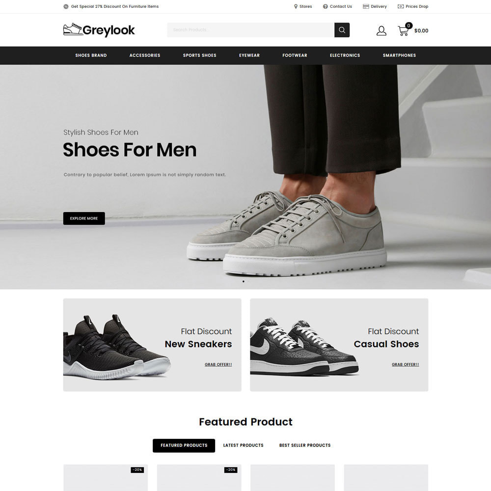 theme - Мода и обувь - Grey Look - Fashion Store - 16