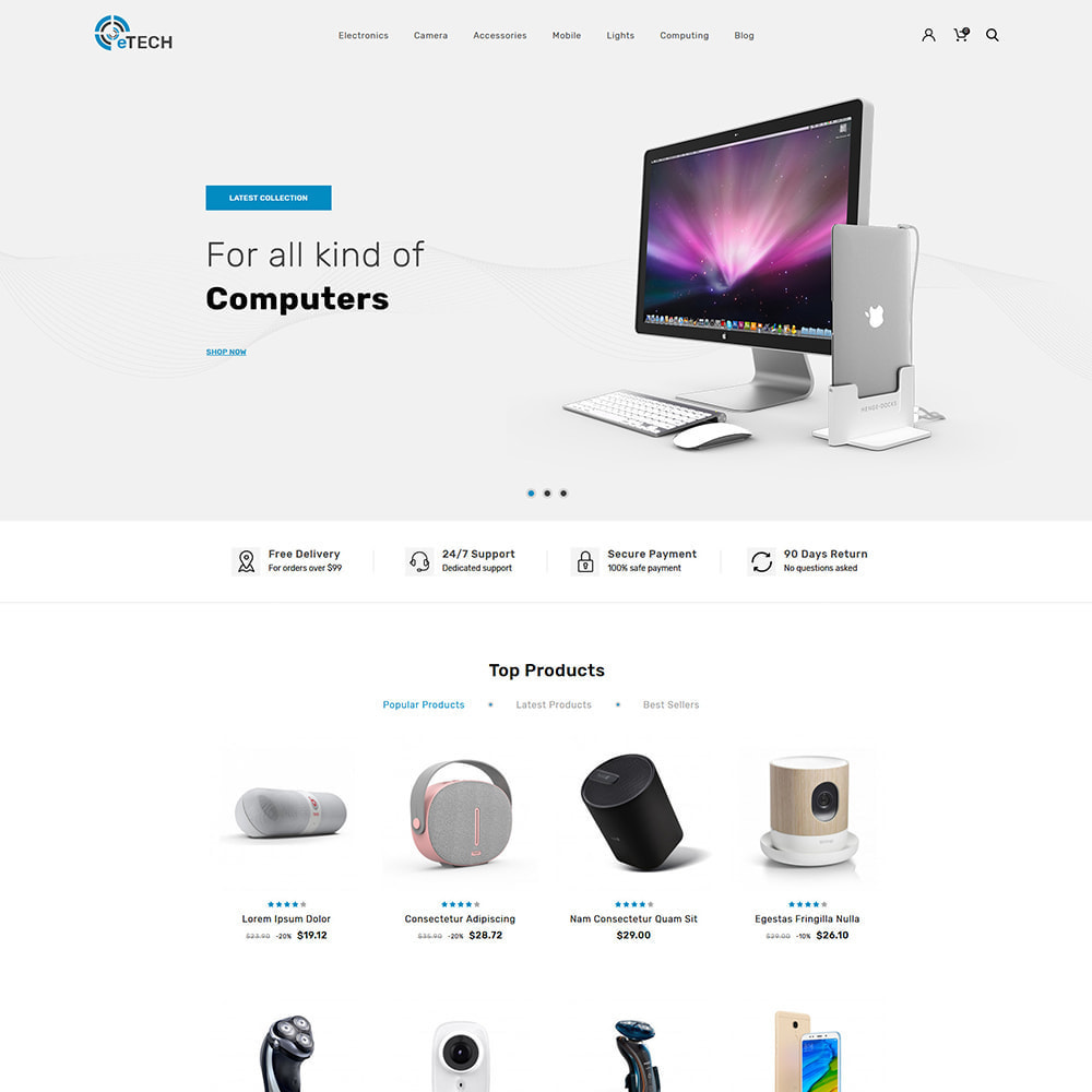 theme - Elektronik & High Tech - Etech Electronics & Computers Store - 2