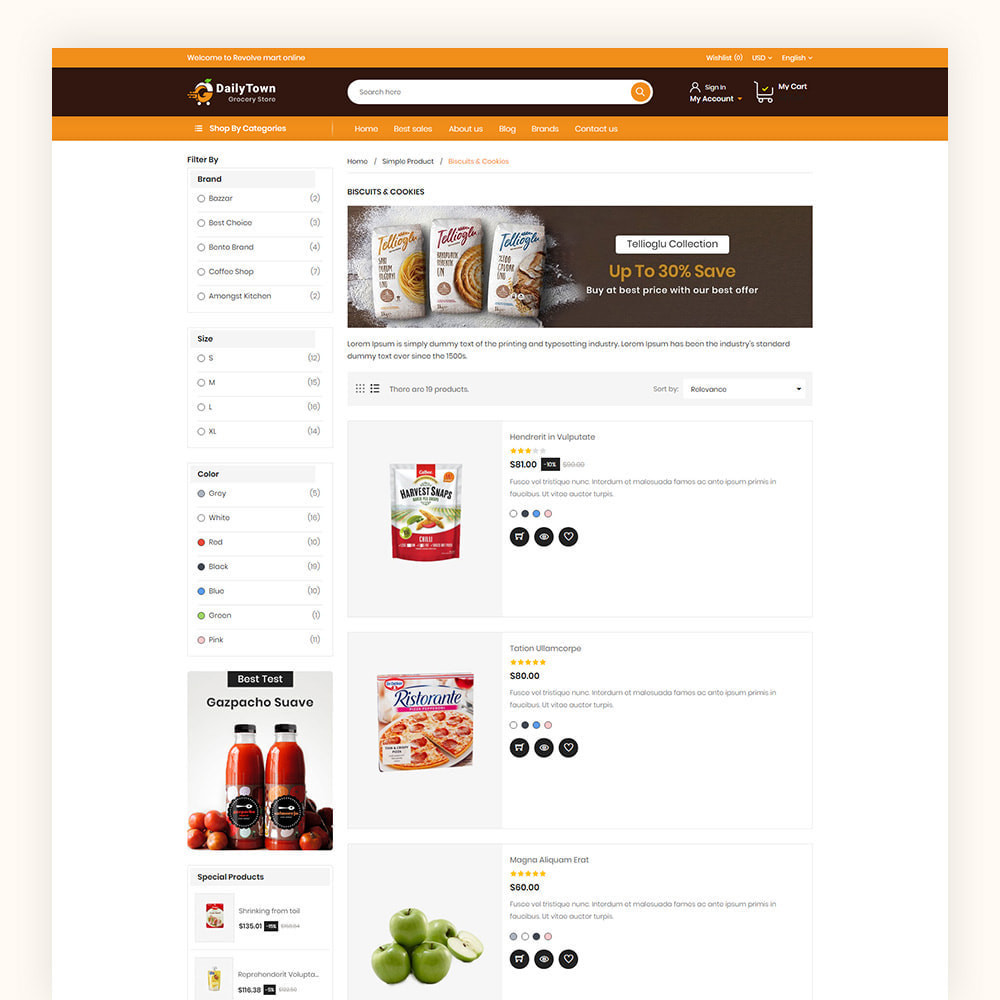 theme - Food & Restaurant - Daily Town Grocery Store - 6