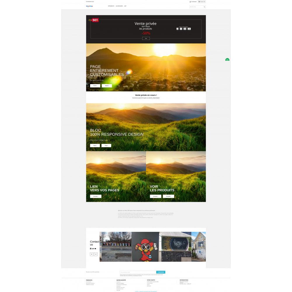 module - Page Customization - HTML blocks - home page - 2