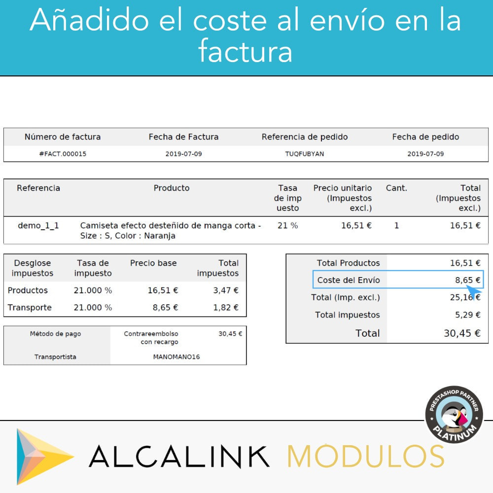 module - Pago a la Entrega (contrarrembolso) - Pago contrareembolso con recargo/comisión - 6