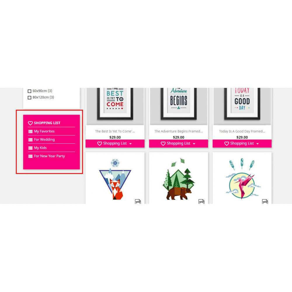 module - Wishlist & Gift Card - Shopping Cart List | Wishlist Buy Later | Save Favorite - 1