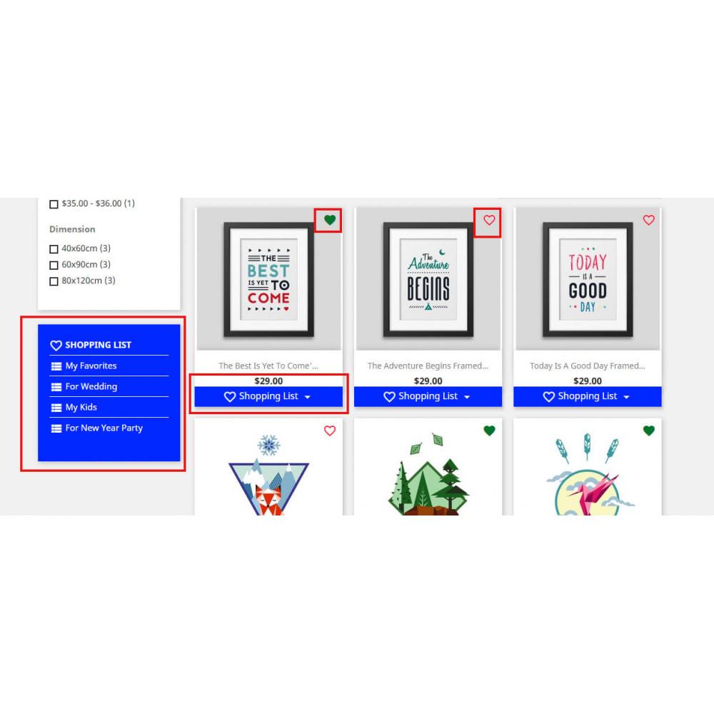 module - Wishlist & Gift Card - Shopping Cart List | Wishlist Buy Later | Save Favorite - 20