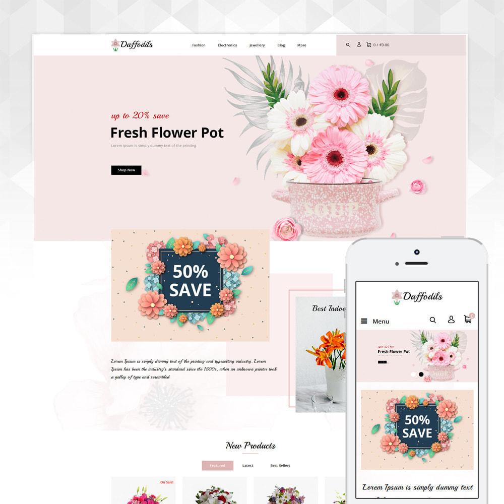 theme - Prezenty, Kwiaty & Uroczystości - Daffodils - Flowers Store - 1