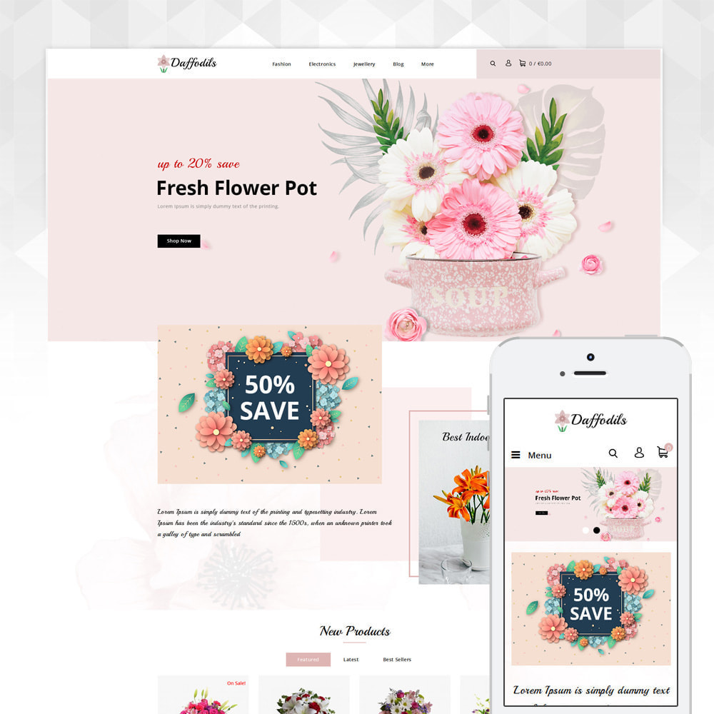 theme - Cadeaus, Bloemen & Gelegenheden - Daffodils - Flowers Store - 1