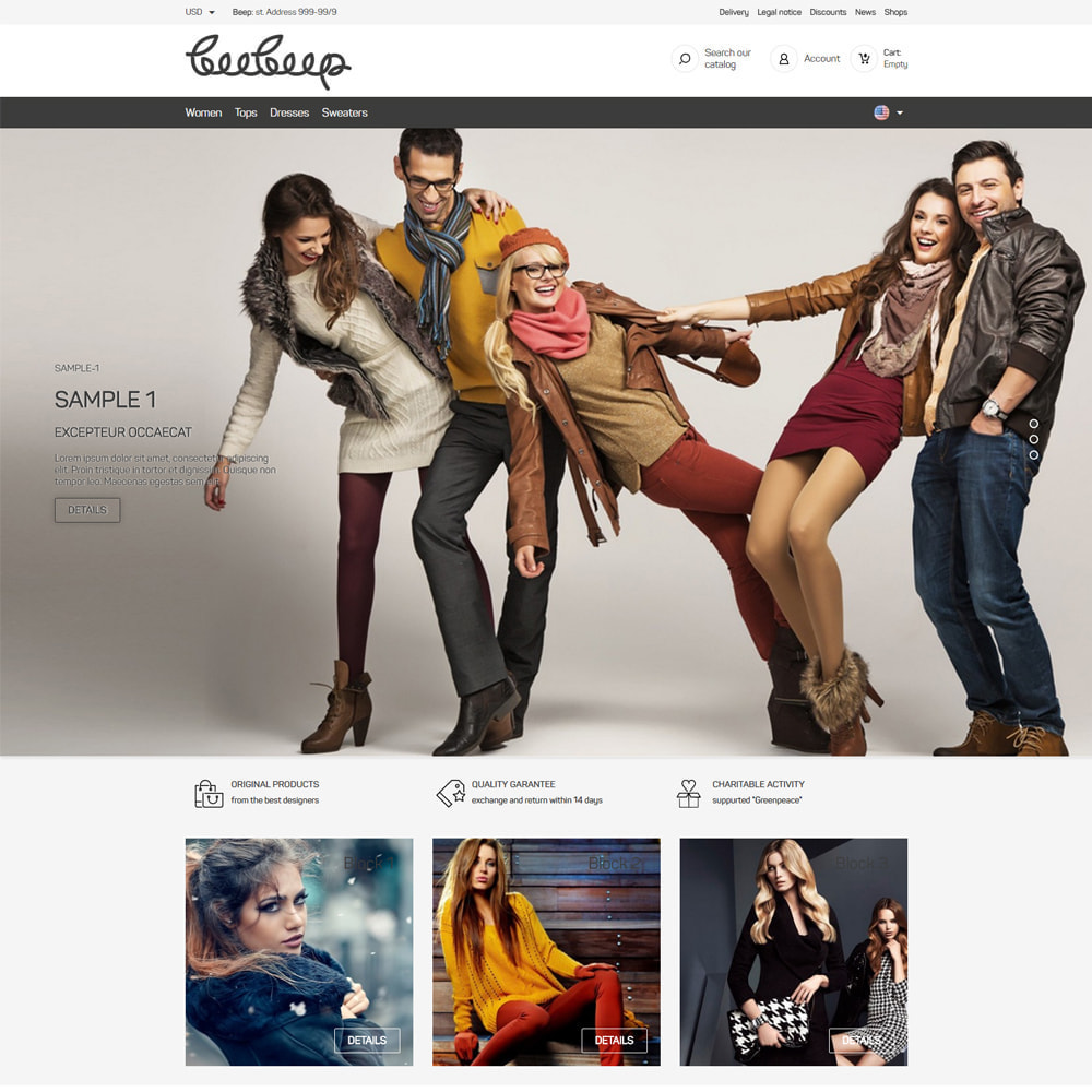 theme - Mode & Schoenen - Beep Clothes Store - 2