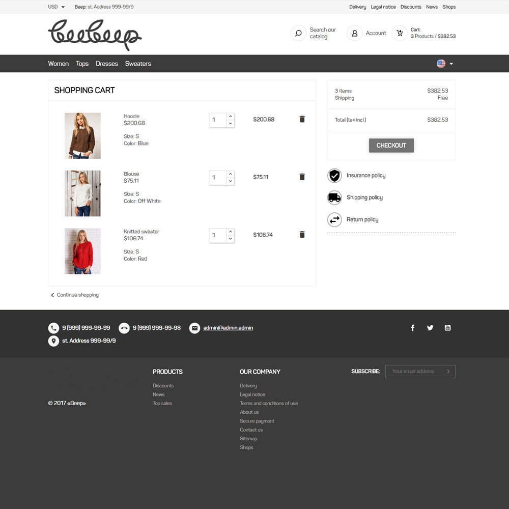 theme - Mode & Chaussures - Beep Clothes Store - 7