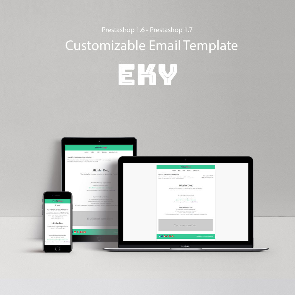 email - Template di e-mail PrestaShop - Eky - Email template - 1