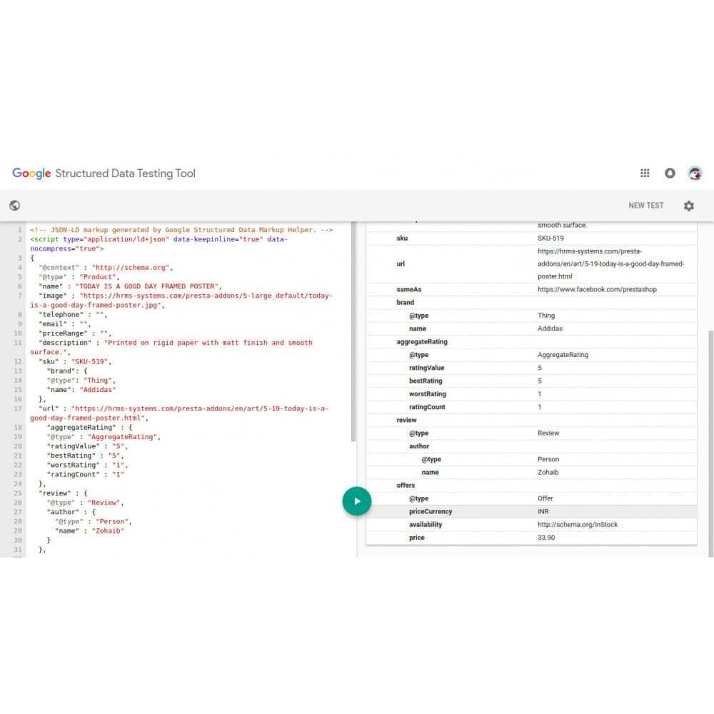 module - SEO (Indicizzazione naturale) - Markup di SEO Structured Data Schema e rich snippet - 3