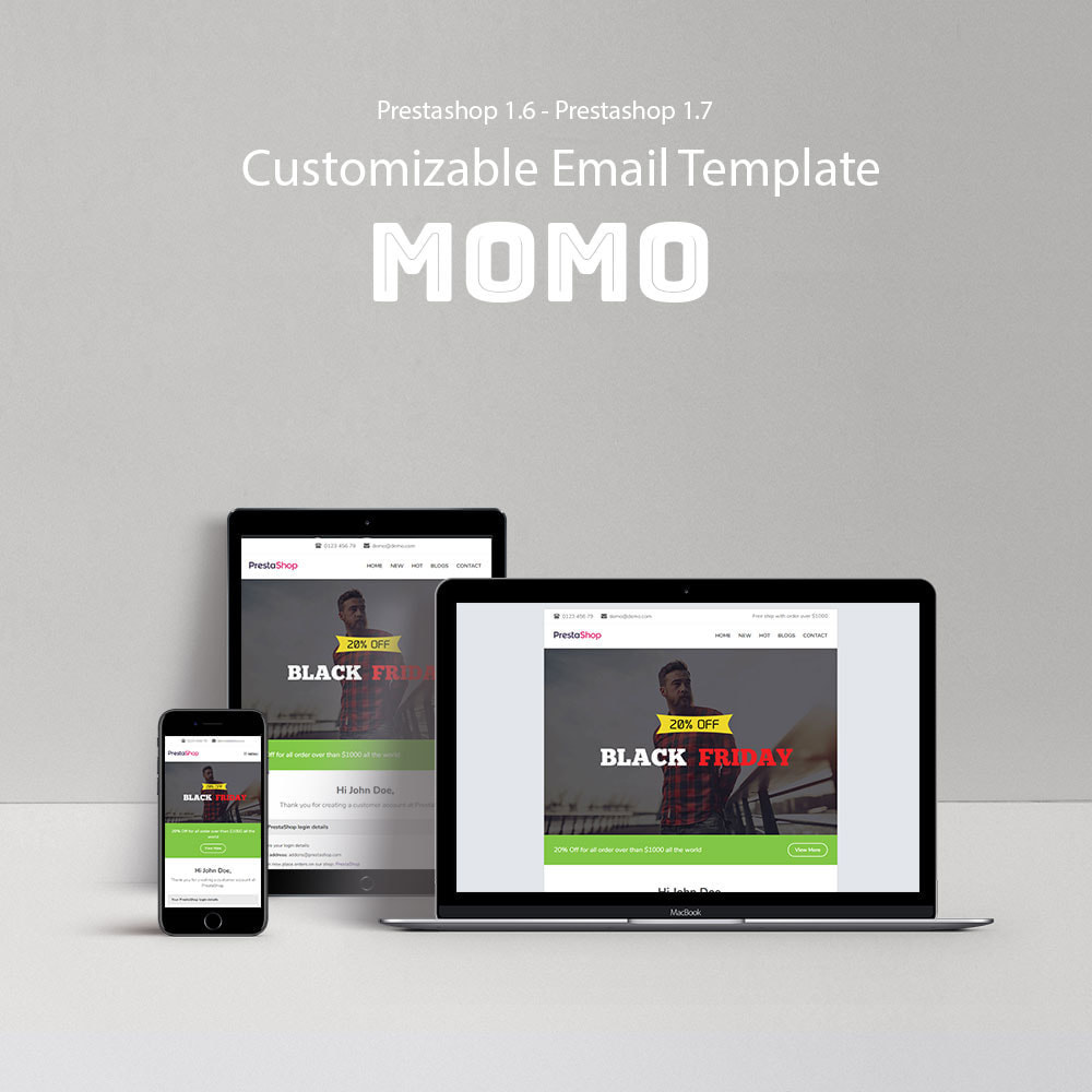 email - Email templates PrestaShop - Momo - Email template - 1