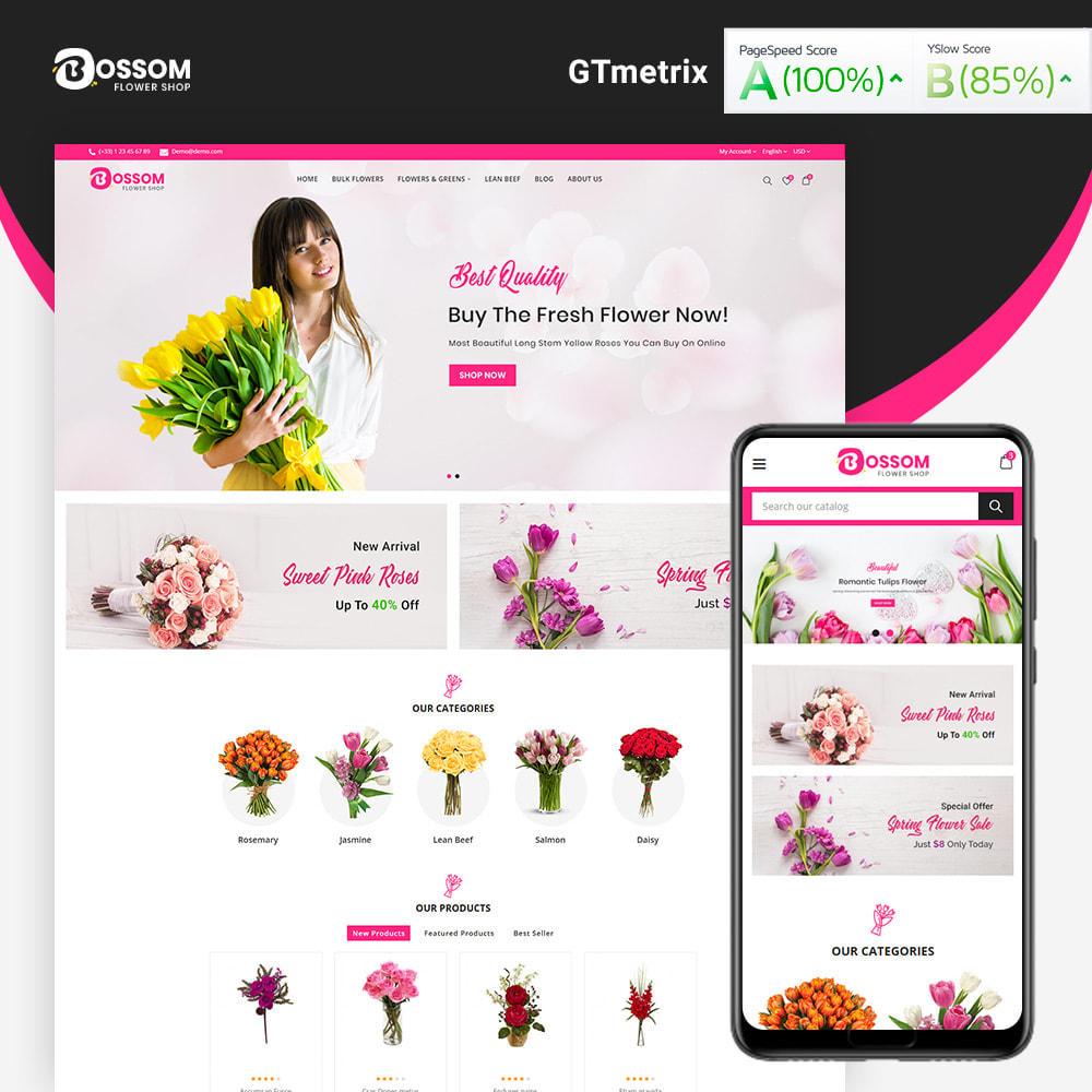 theme - Presentes, Flores & Comemorações - Bossom Flower Shop - 1