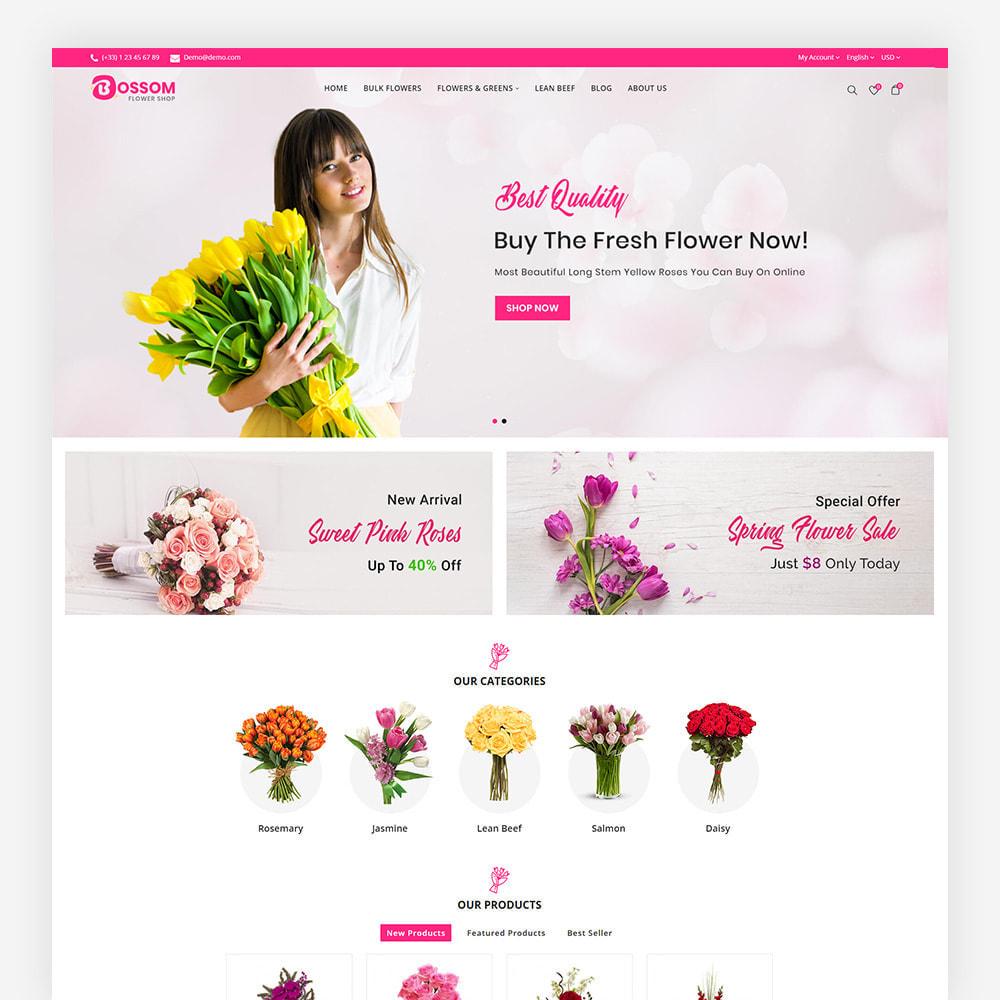 theme - Cadeaux, Fleurs et Fêtes - Bossom Flower Shop - 3