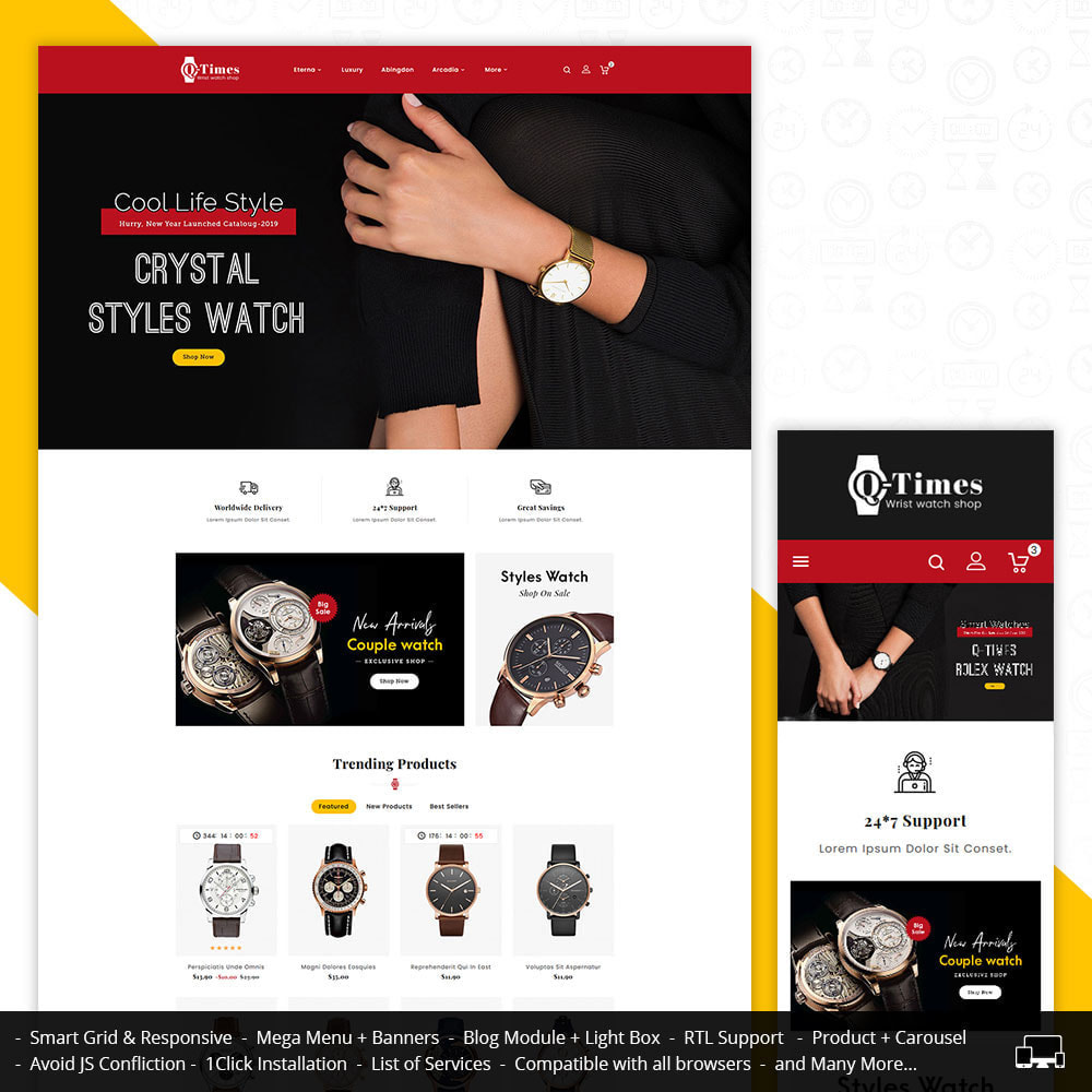 theme - Jewelry & Accessories - Q-Times Watches Store - 1