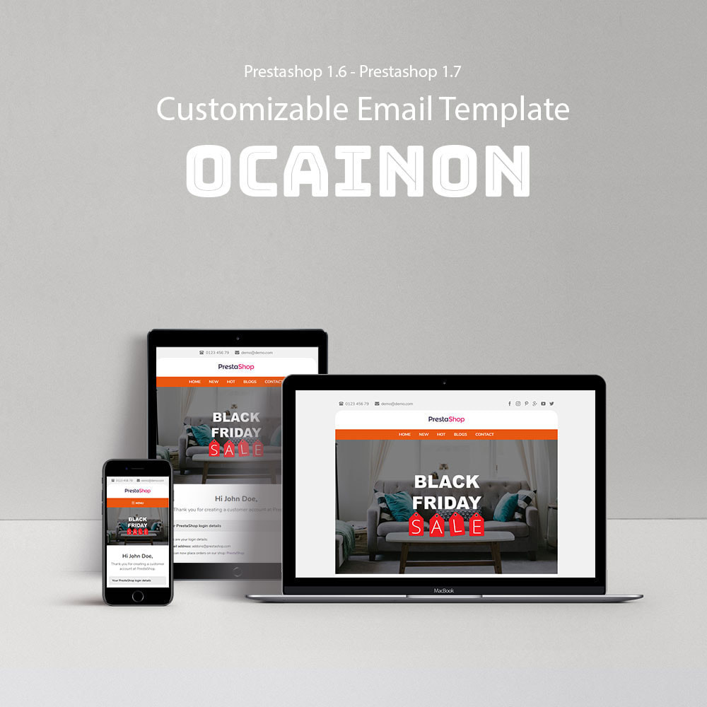 email - Email templates PrestaShop - Ocainon - Email template - 1
