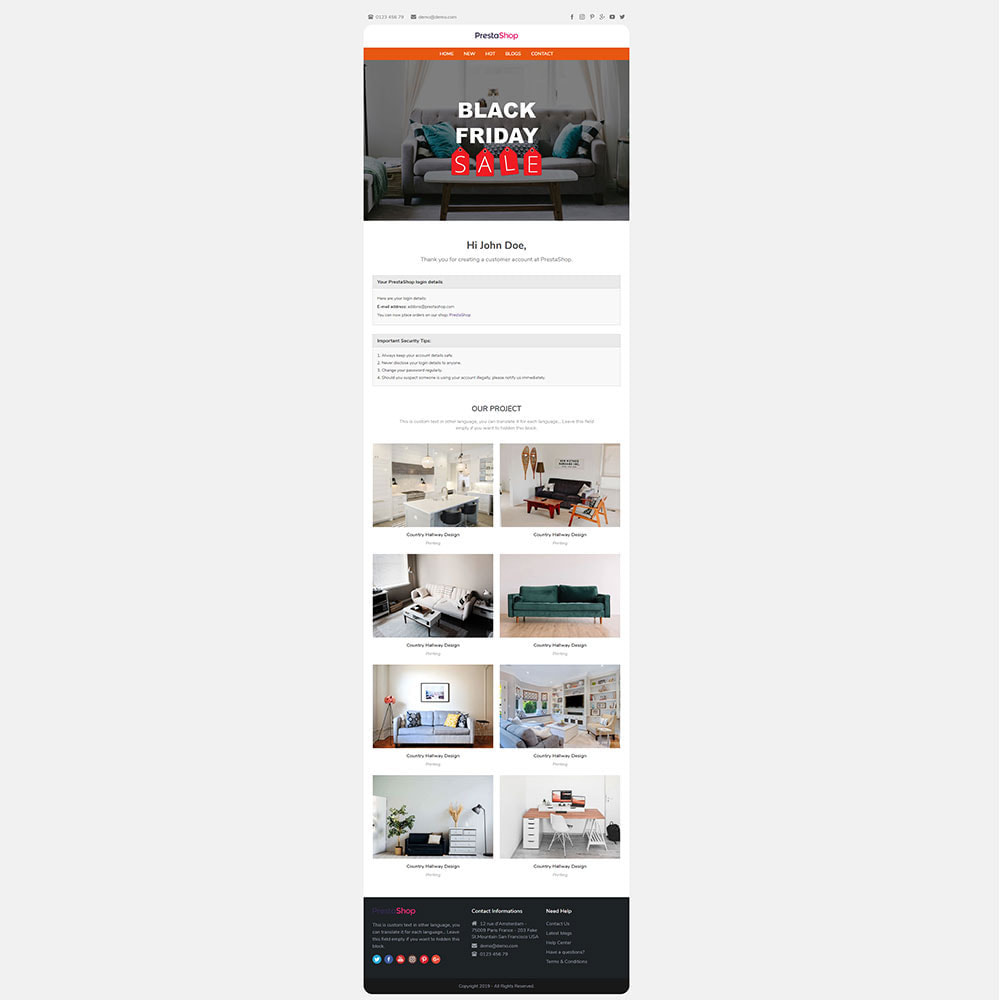 email - Email templates PrestaShop - Ocainon - Email template - 3