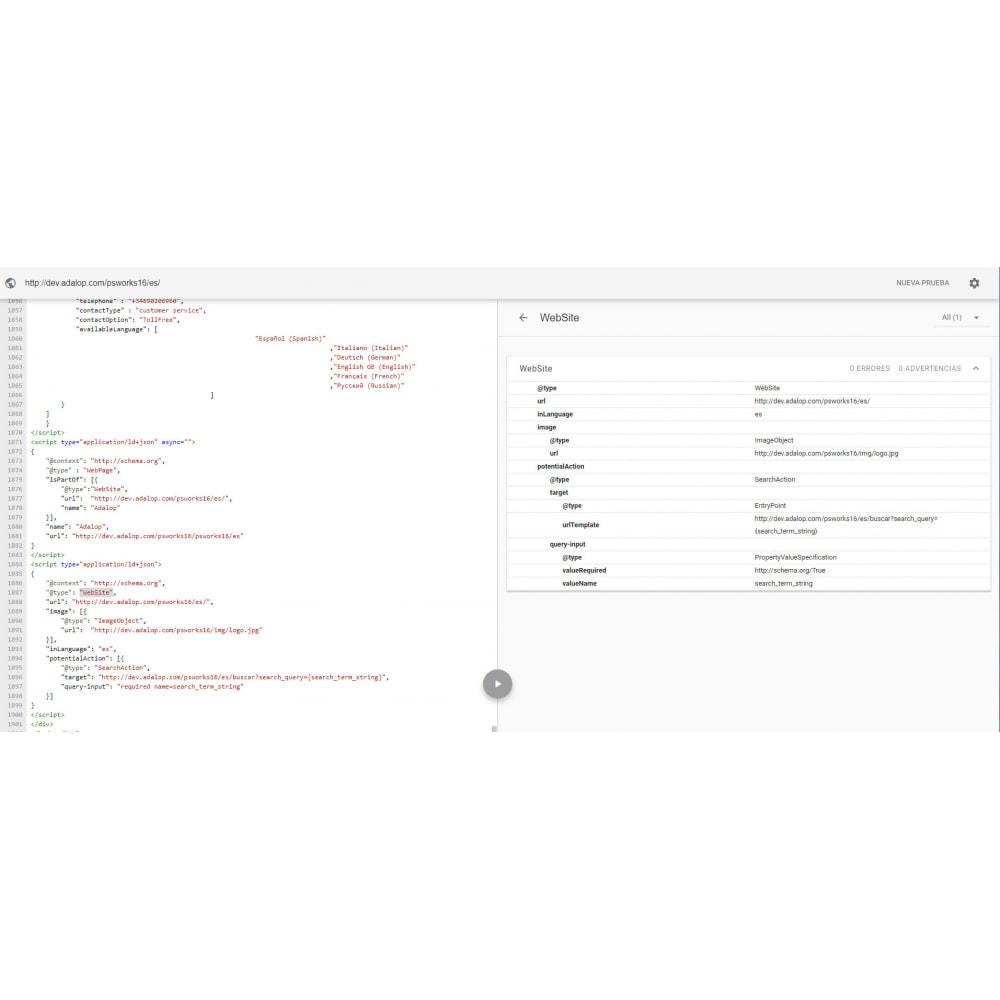 module - SEO (référencement naturel) - Intégration JSON-LD MICRODONNÉES et OPEN GRAPH - SEO - 16