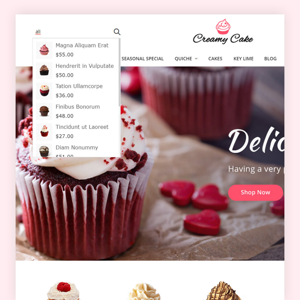 theme - Lebensmittel & Restaurants - Creamy Cake Shop - 3