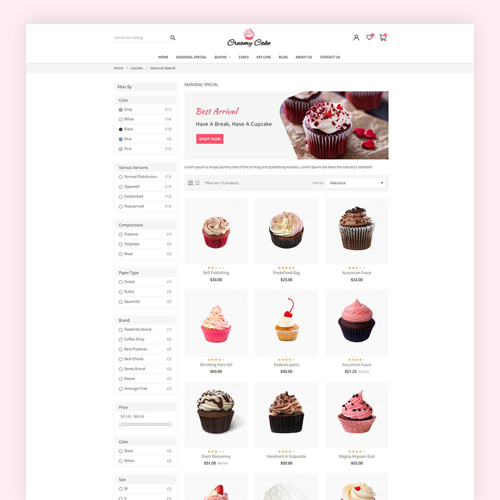 theme - Lebensmittel & Restaurants - Creamy Cake Shop - 5