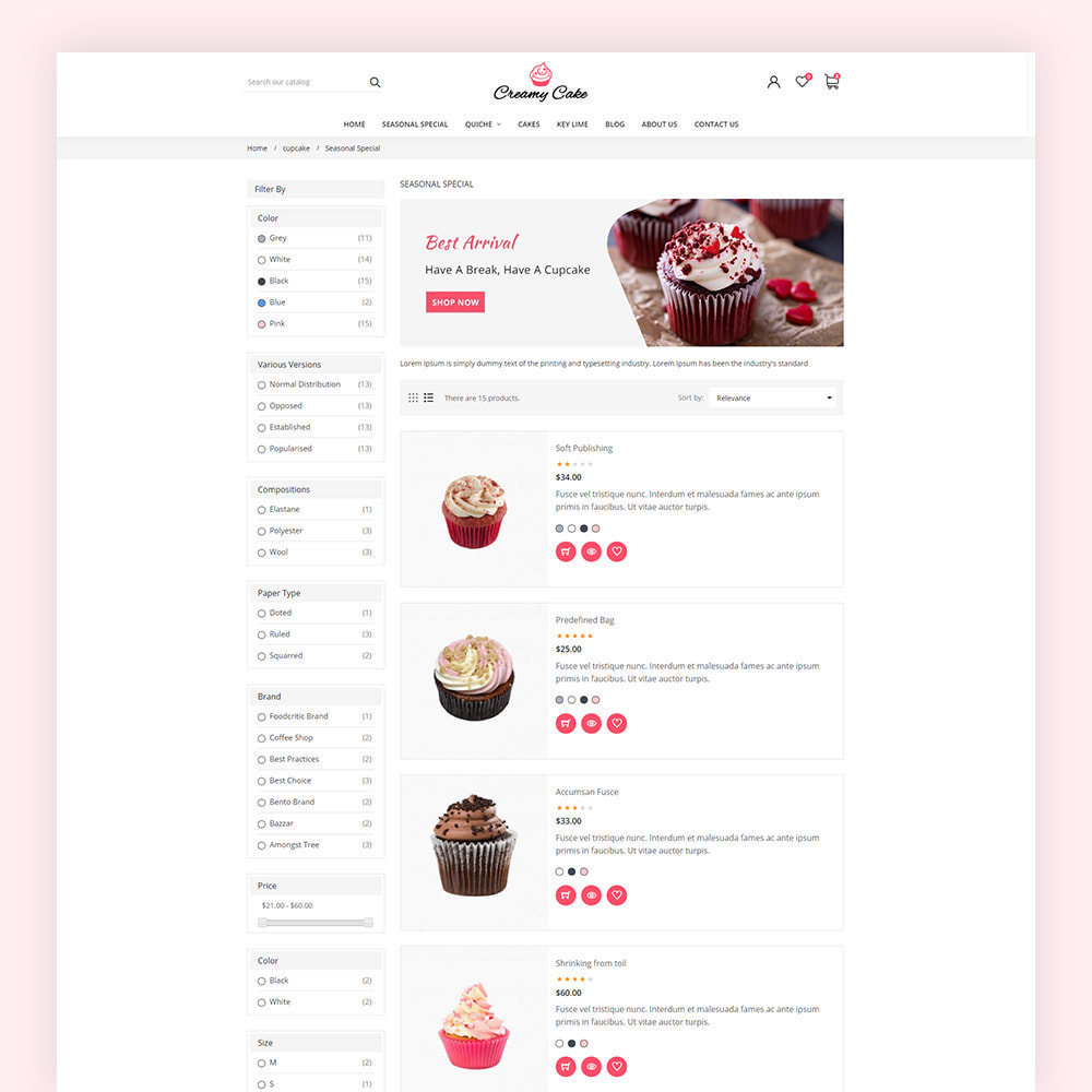 theme - Alimentation & Restauration - Creamy Cake Shop - 7