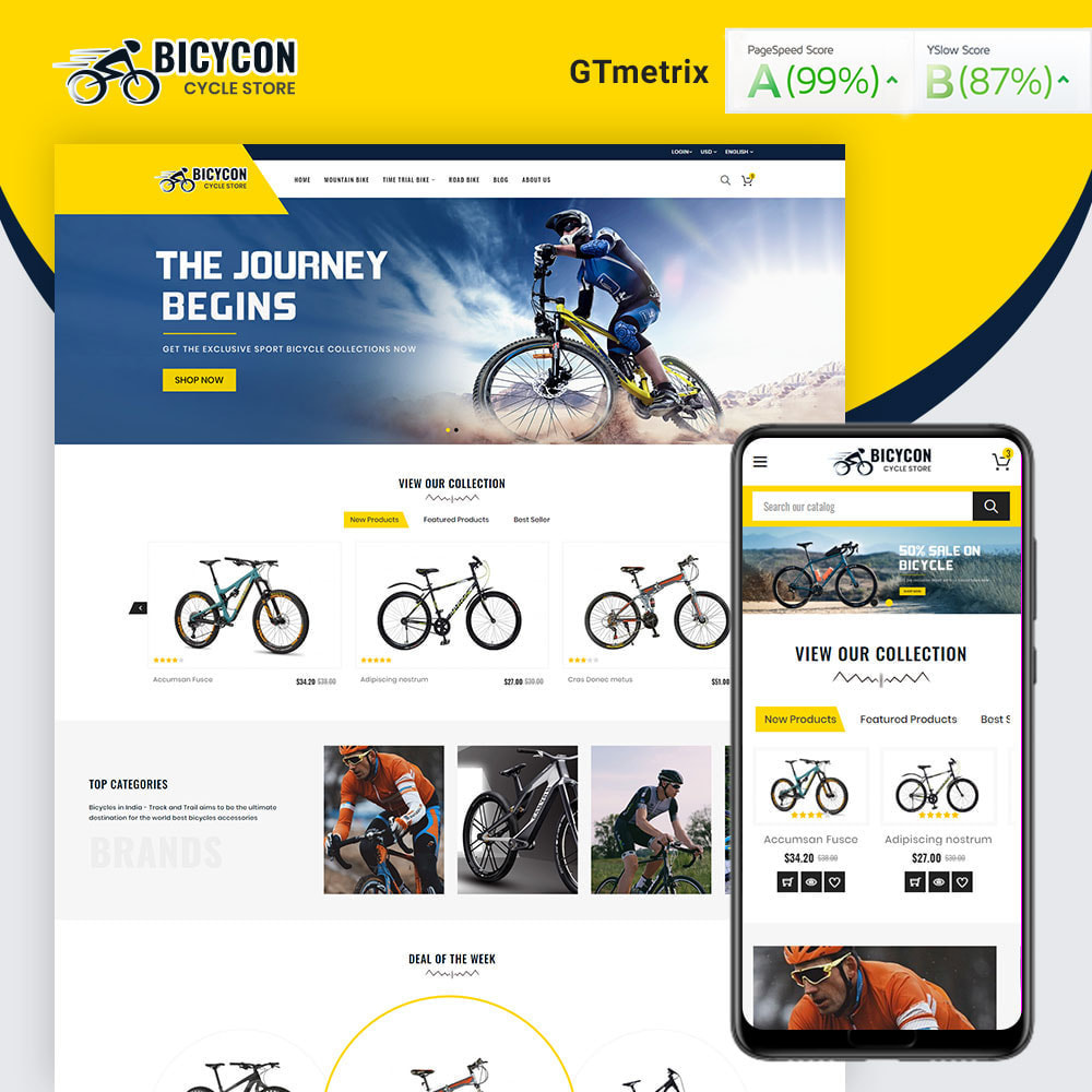 theme - Sports, Activities & Travel - Bicycon Cycle Store - 1