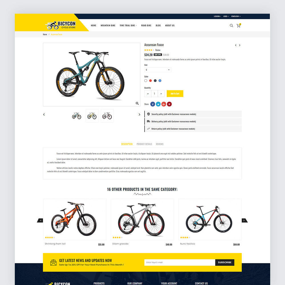 theme - Sport, Loisirs & Voyage - Bicycon Cycle Store - 8