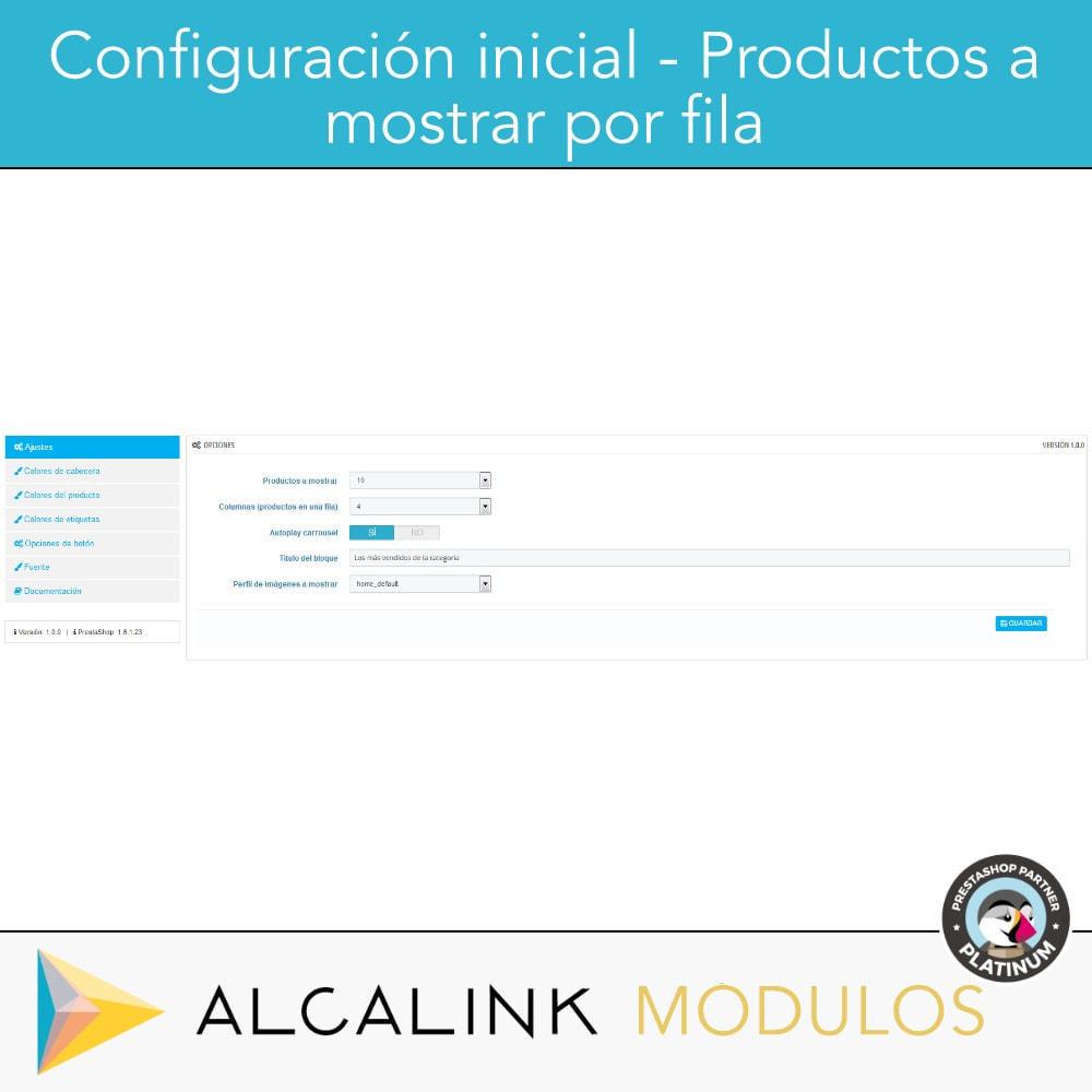 module - Bloques, Pestañas y Banners - Productos más vendidos POR CATEGORÍA - 2
