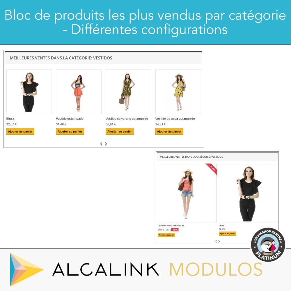 module - Blocs, Onglets & Bannières - Produits les plus vendus PAR CATÉGORIE - 4