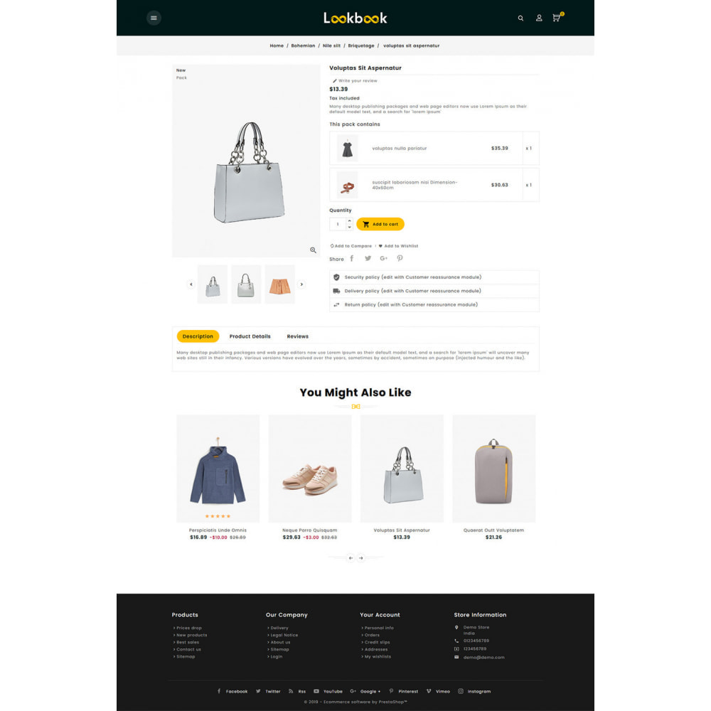 theme - Mode & Chaussures - Lookbook - Fashion Apparels - 5