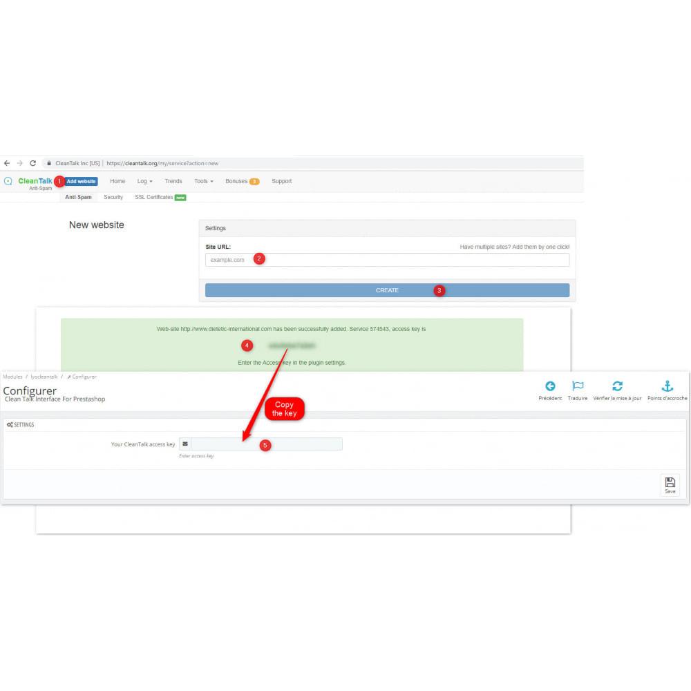 module - Segurança & Acesso - CleanTalk Protect From SpamBots - 5