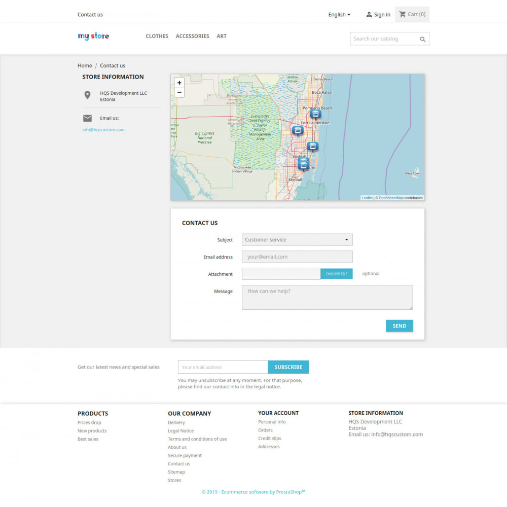 module - Page Customization - Contact Map - 1