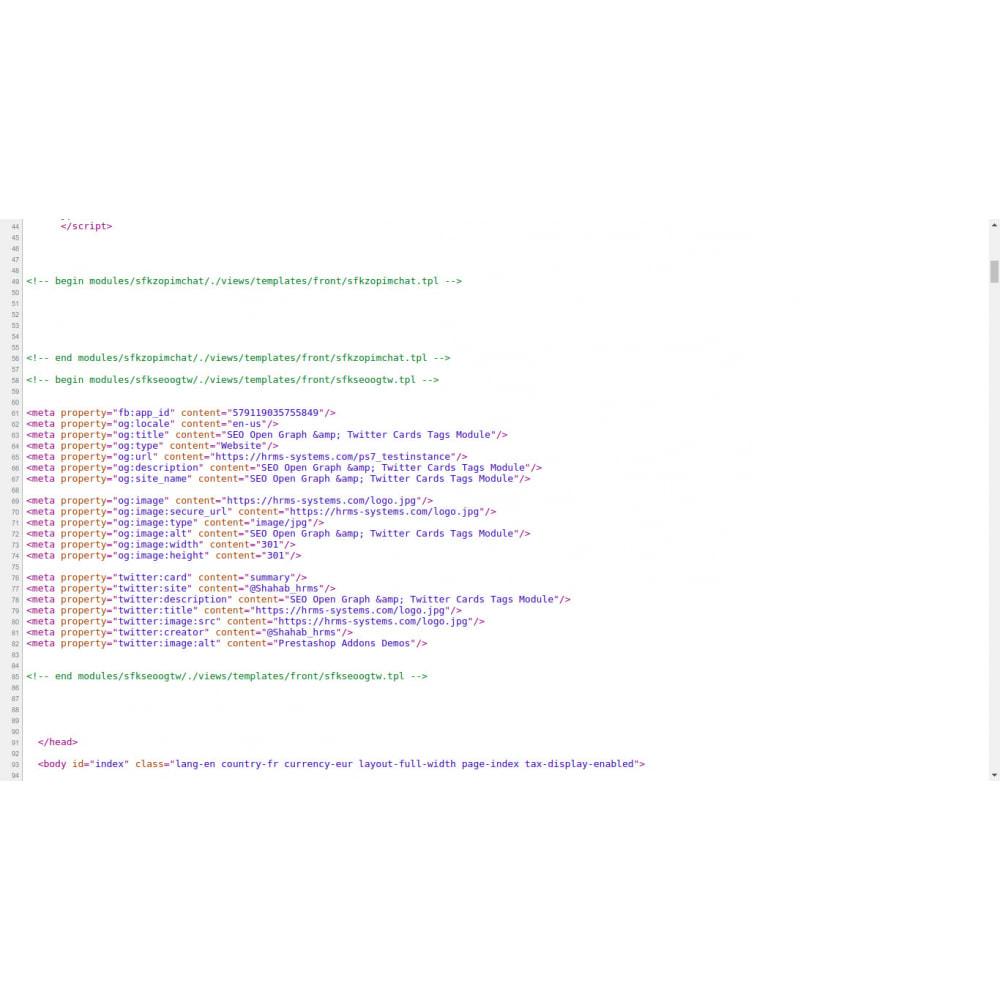 module - SEO - SEO Open Graph & Twitter Karte Tags Generator - 1