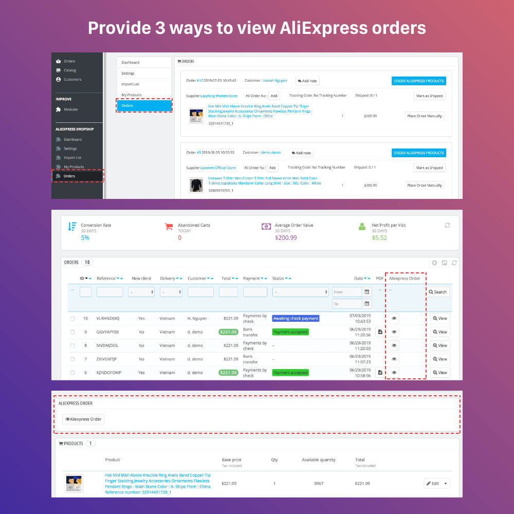 module - Dropshipping - AliExpress Dropshipping PRO - All in One - 13