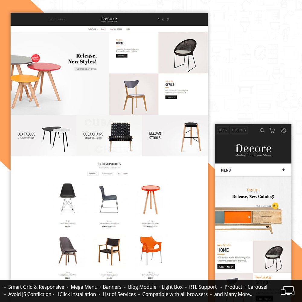 theme - Дом и сад - Decore - Modest Furniture Store - 1
