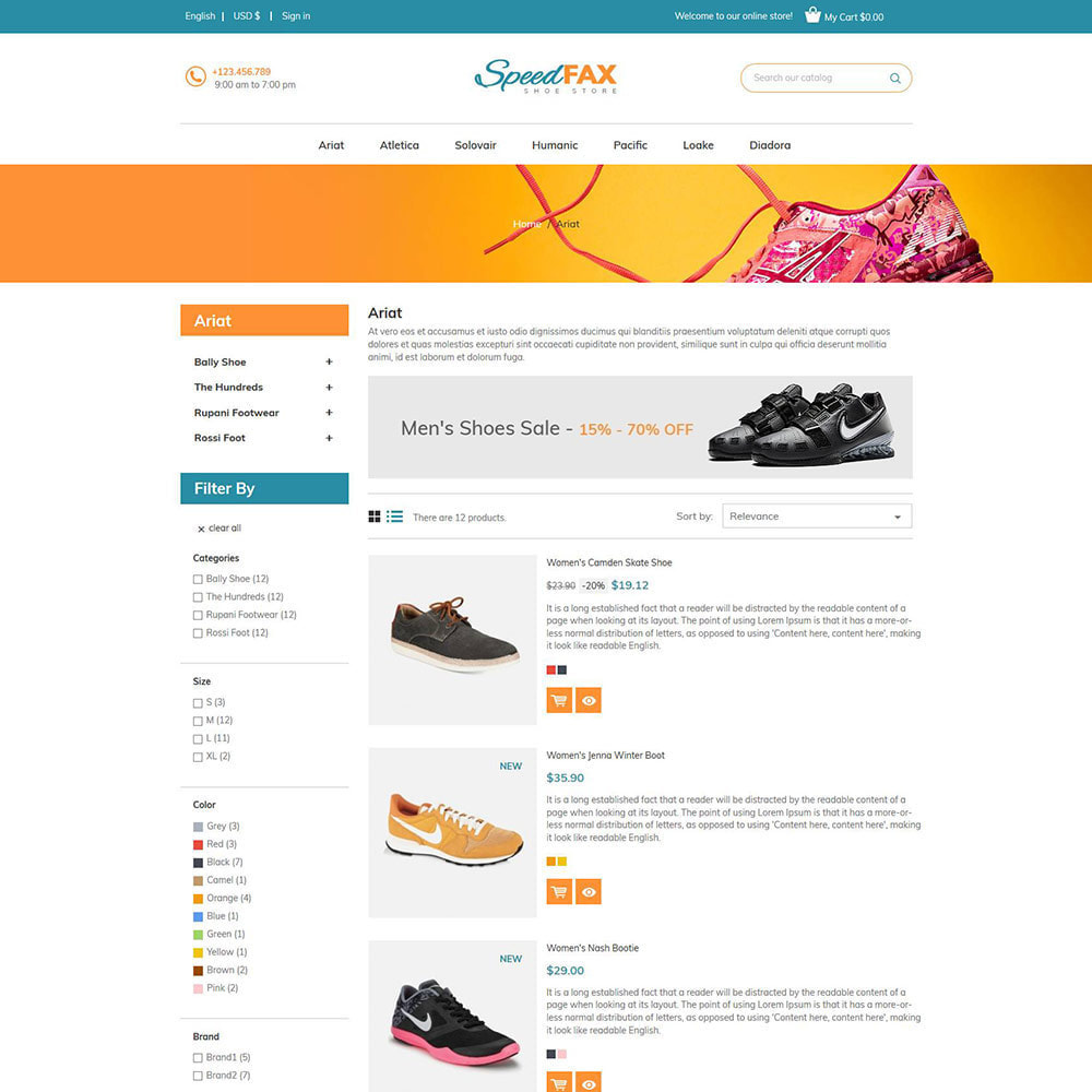 theme - Fashion & Shoes - Speed Fax  Shoes - Boot Store - 4