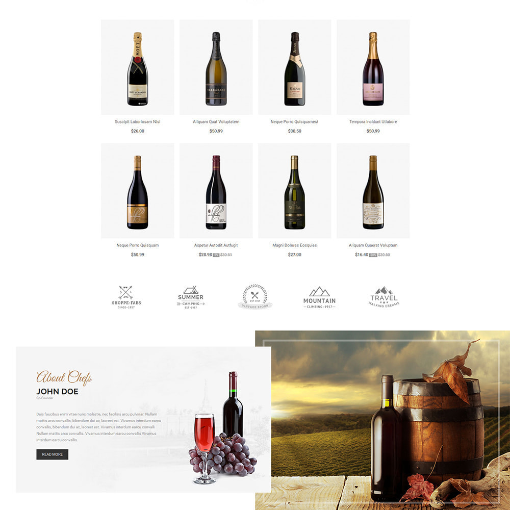 theme - Bebidas & Tabaco - Red Wine Store - 3