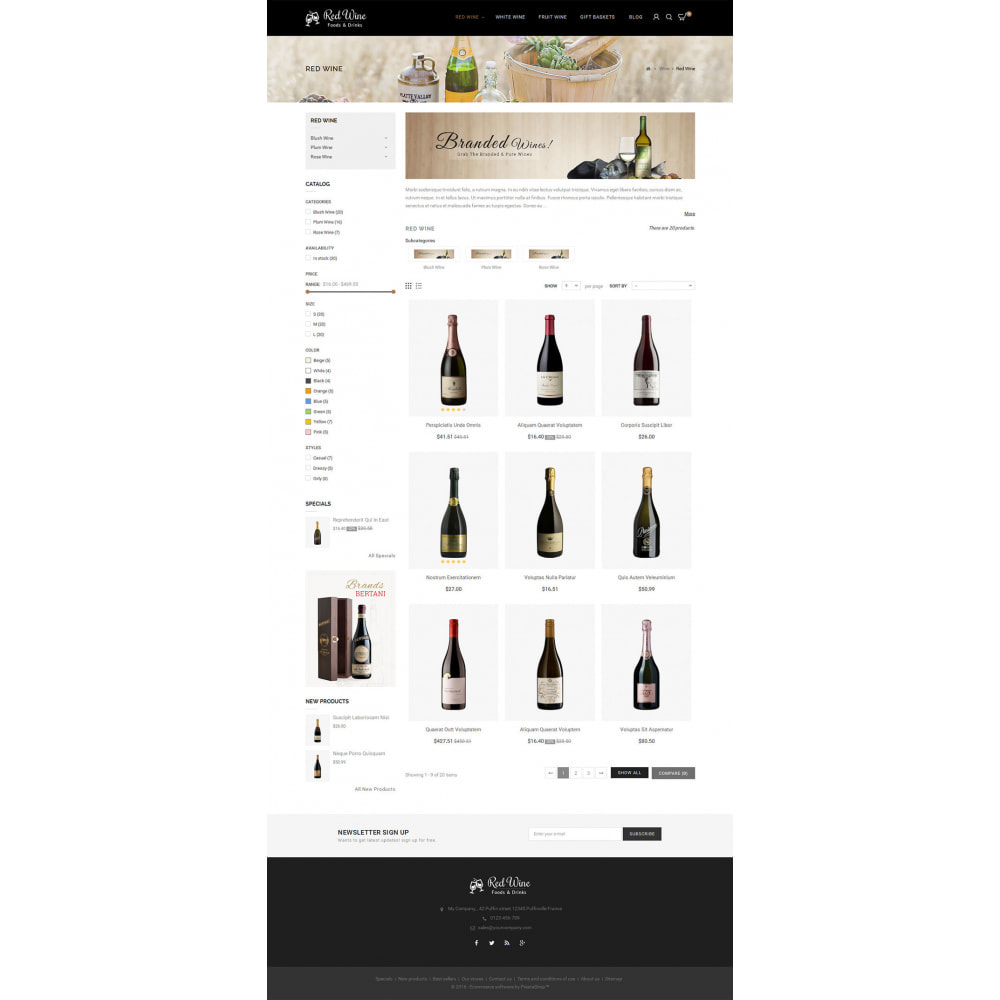 theme - Bebidas & Tabaco - Red Wine Store - 5