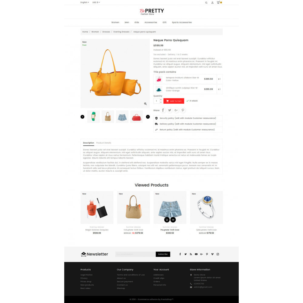 theme - Мода и обувь - BePretty Fashion Store - 4