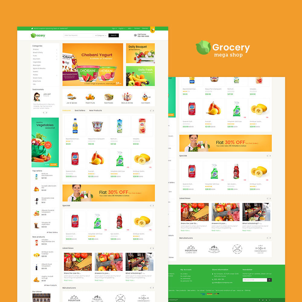 theme - Lebensmittel & Restaurants - Mega Grocery Store - 2