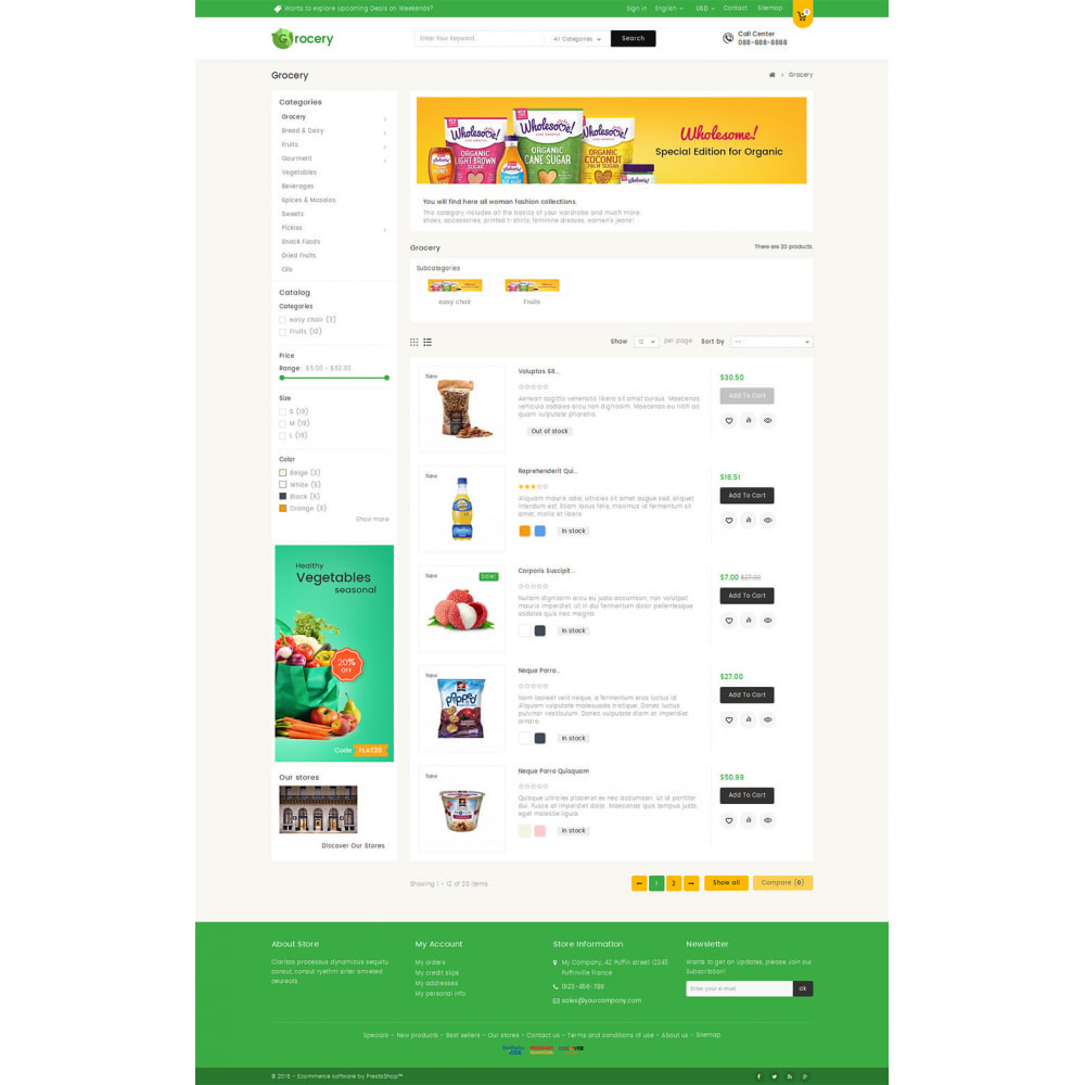 theme - Lebensmittel & Restaurants - Mega Grocery Store - 4