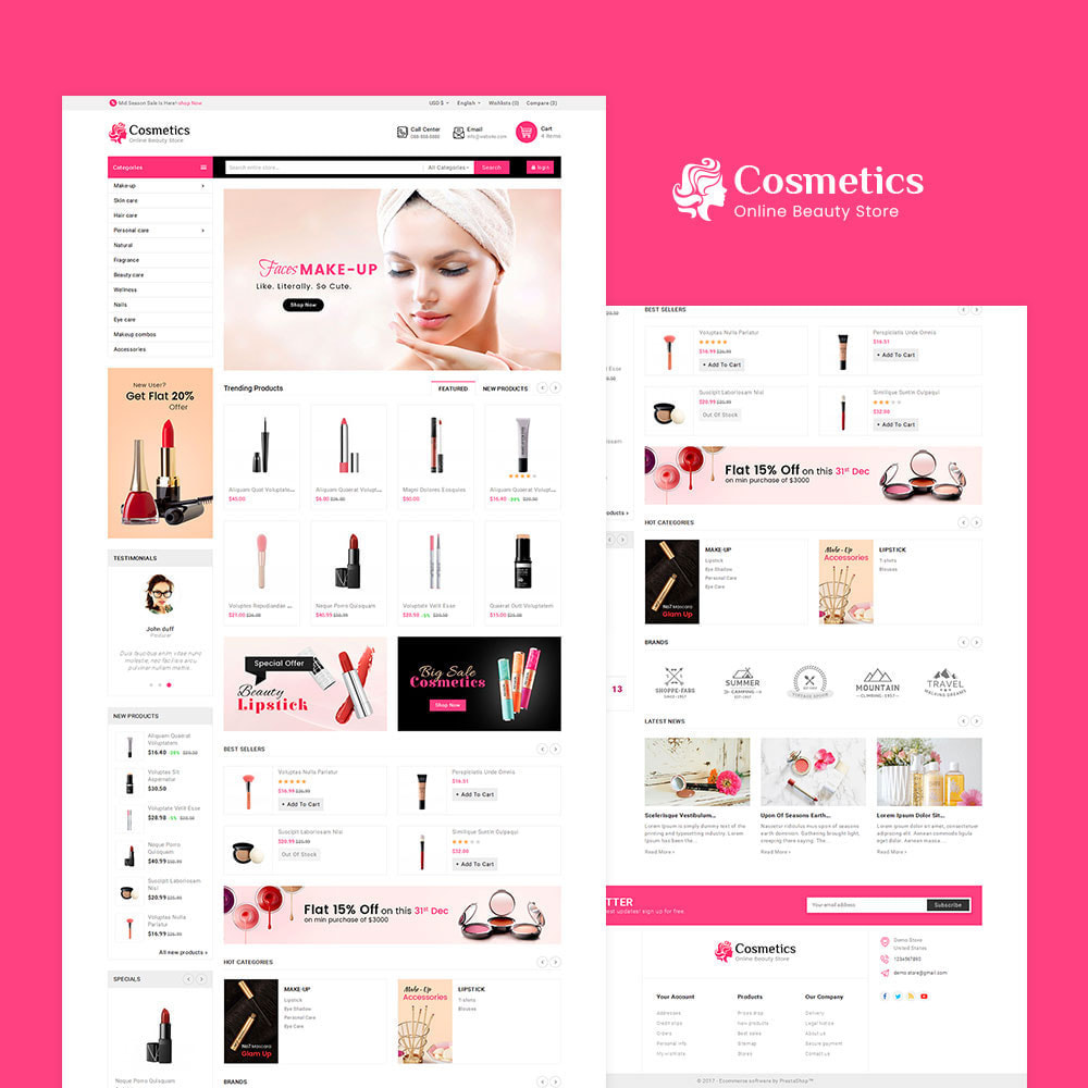 theme - Health & Beauty - Cosmetics Mega Store - 2